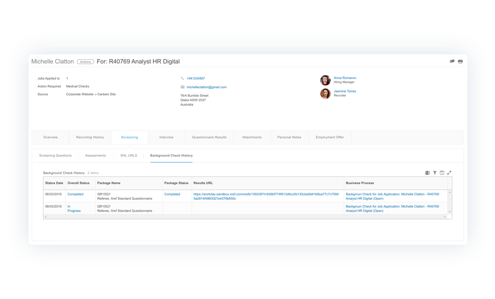 Xref in workday integration