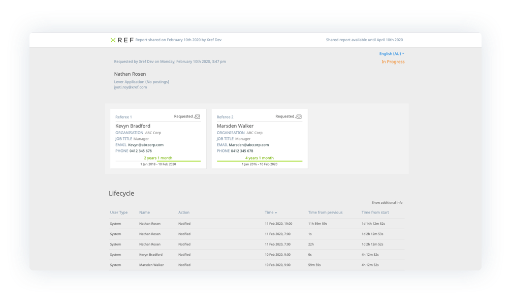 View report in Lever integration
