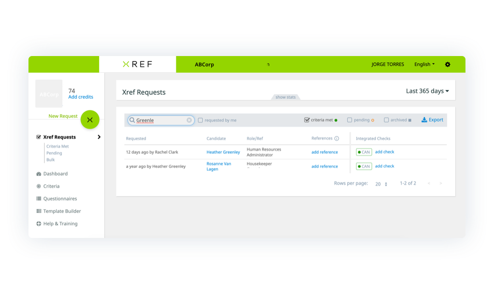 View completed check in Xref integration