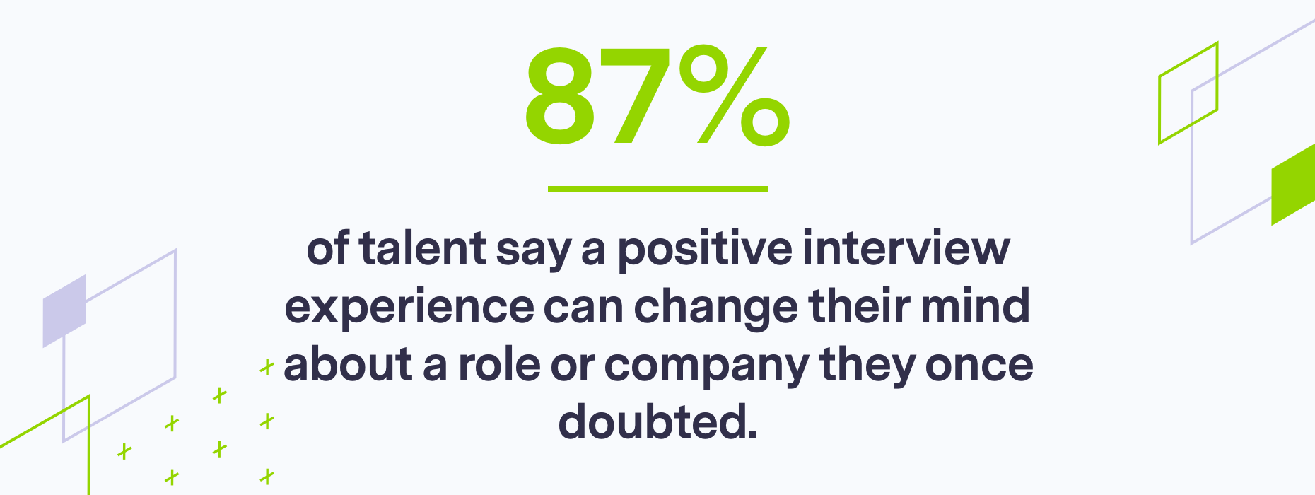 Branded stat for consistent communication with recruitment