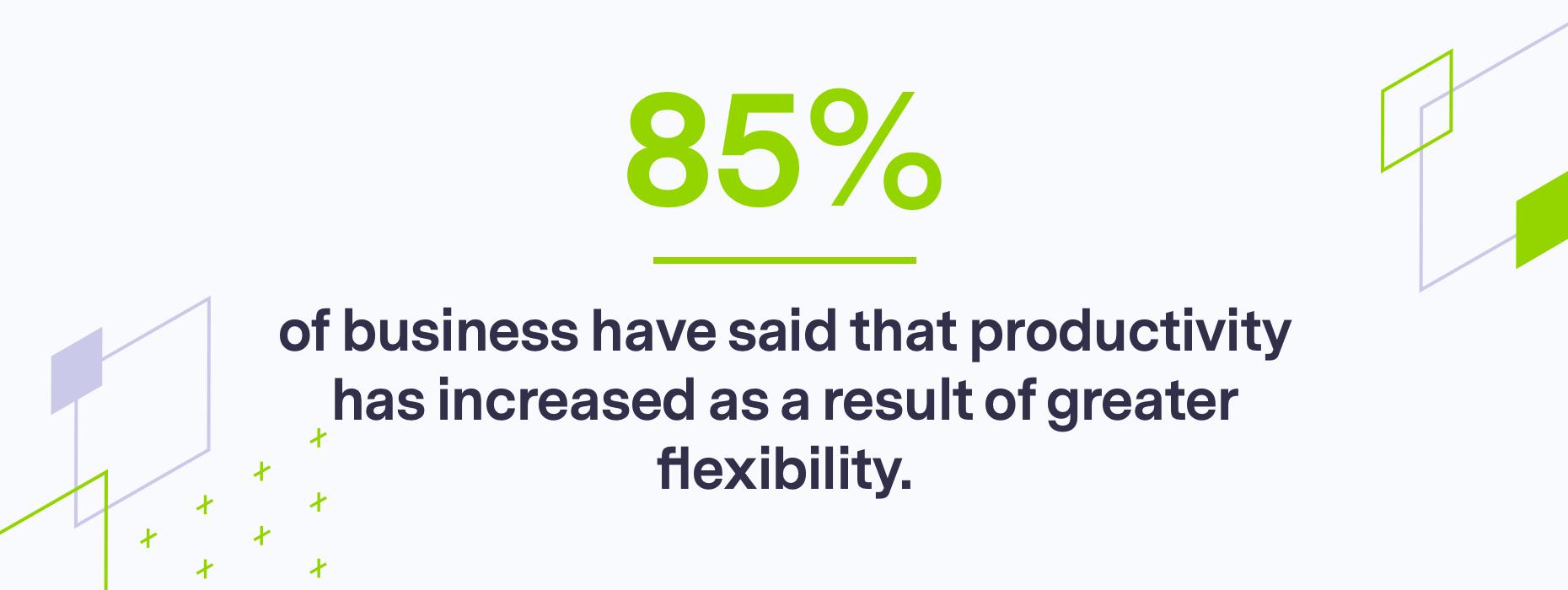 Stats on work flexibility