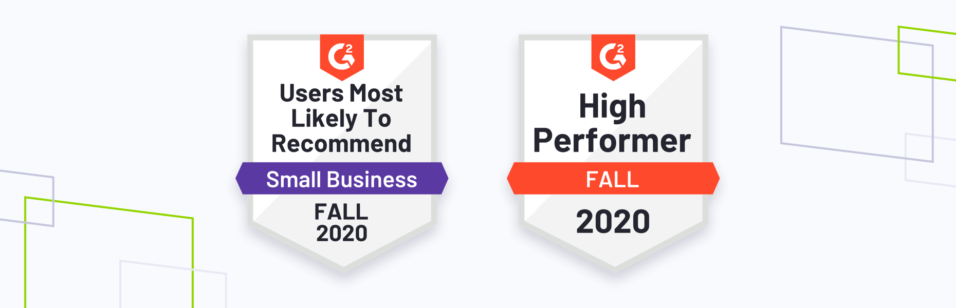 G2 fall 2020 badges, best relationship and usability