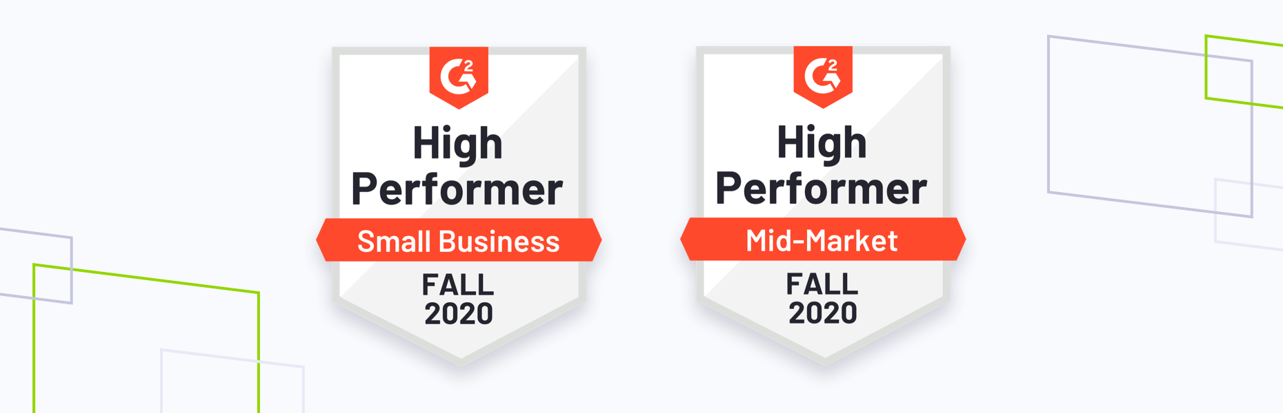 G2 fall 2020 badges, Requirements and high performer