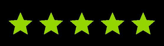 Five green stars