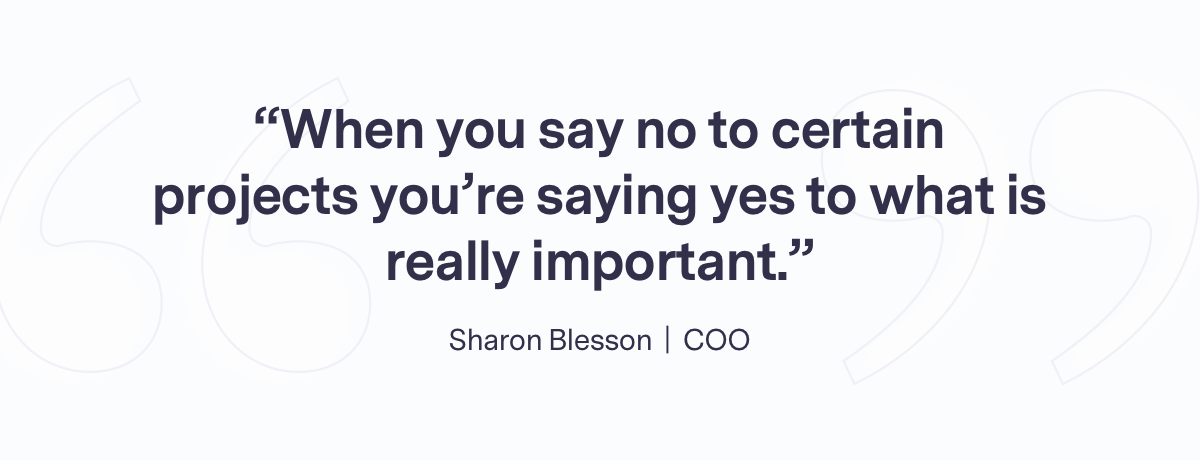 Team quote from Sharon
