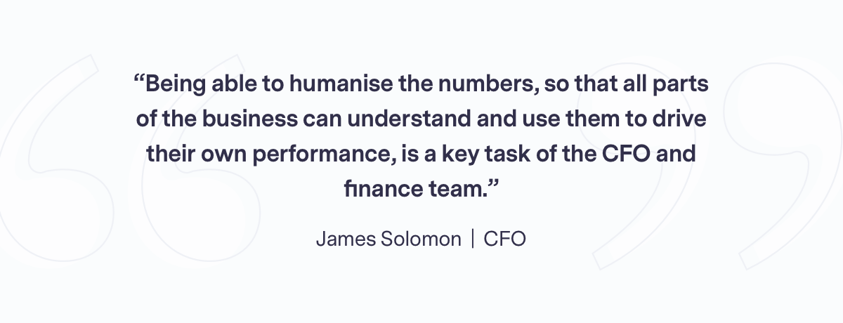 Team quote from James
