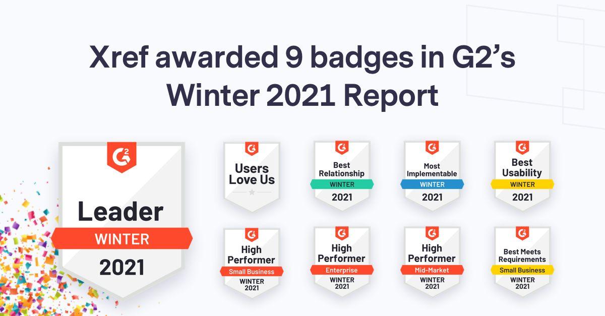 Xref G2 Winter 2021 awards