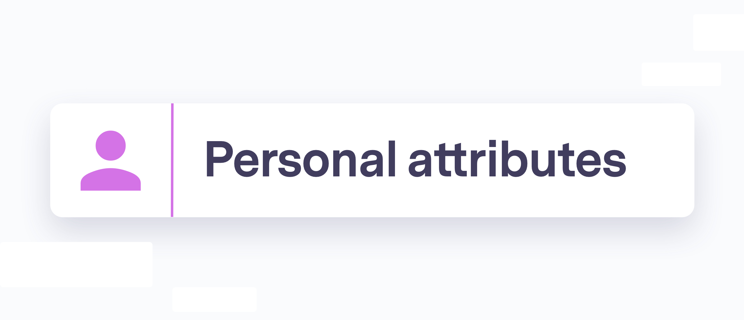 Personal attributes section with pink person icon