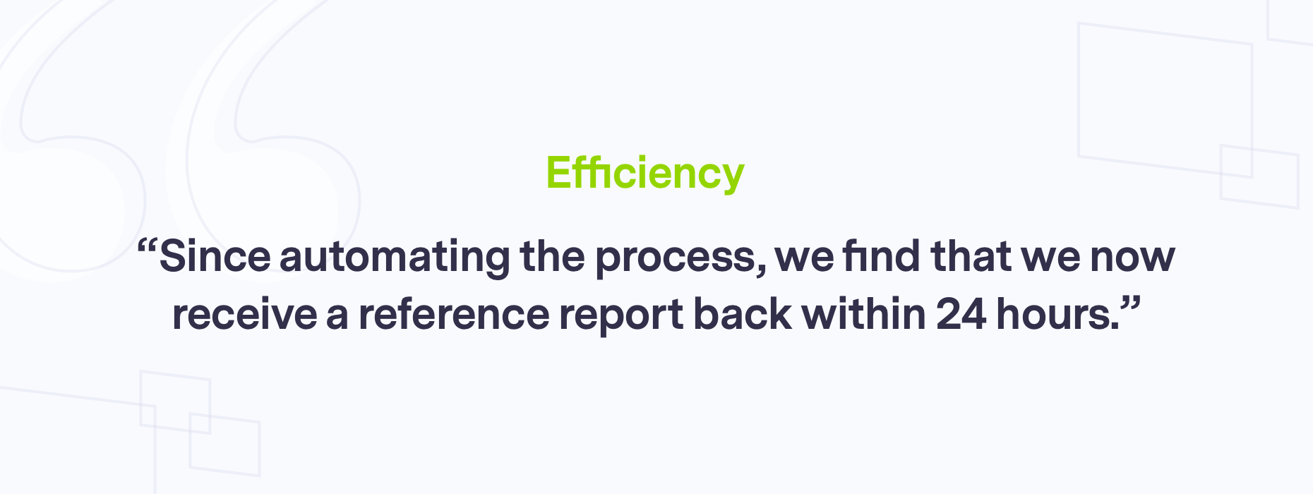 Branded quote on efficiency