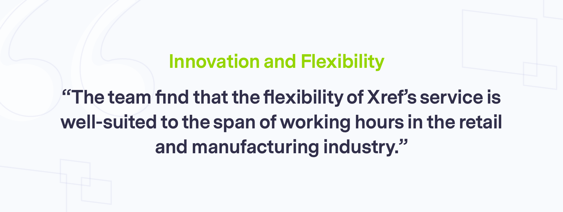 Branded quote on innovation and flexibility