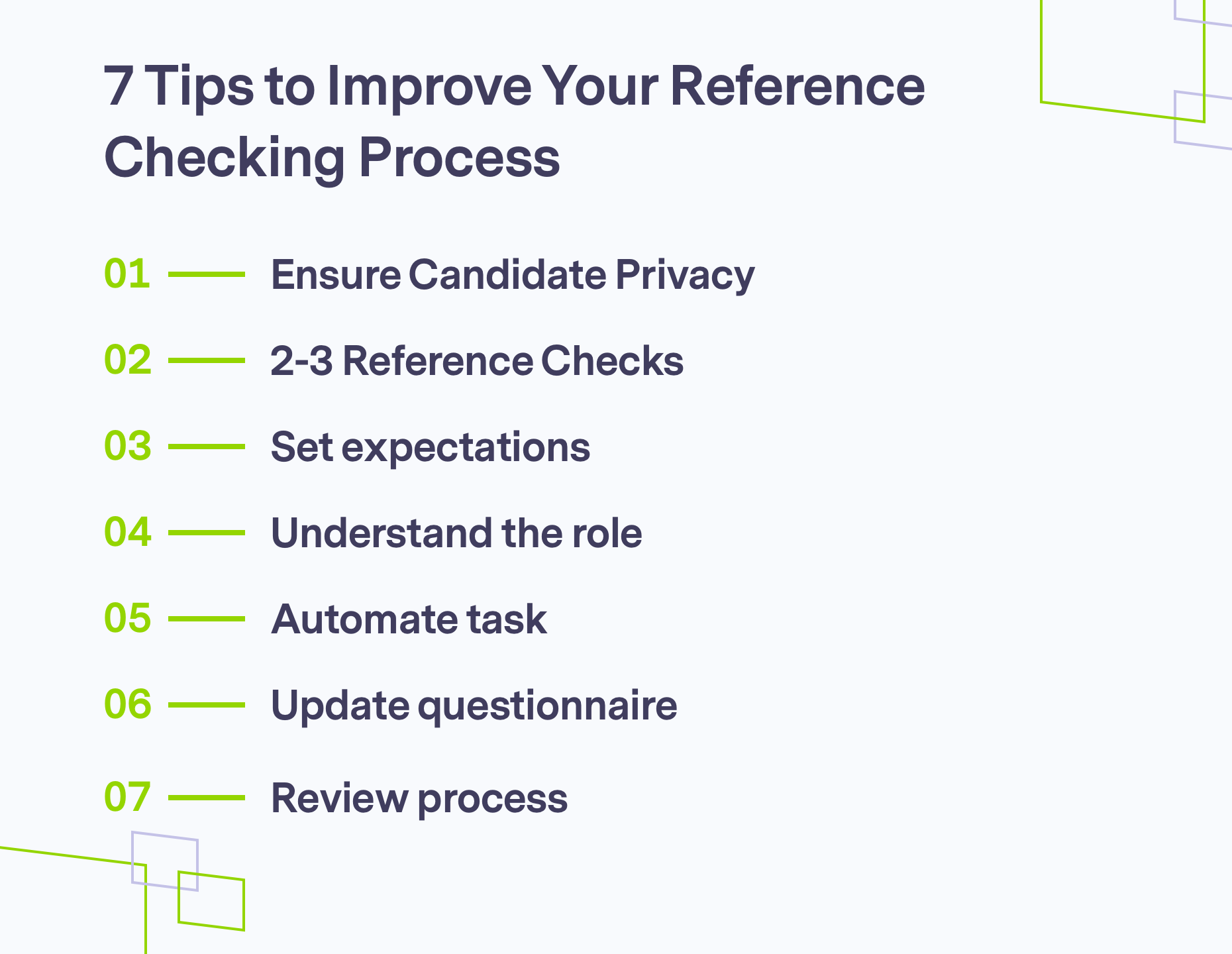 Ways to improving your reference checking process