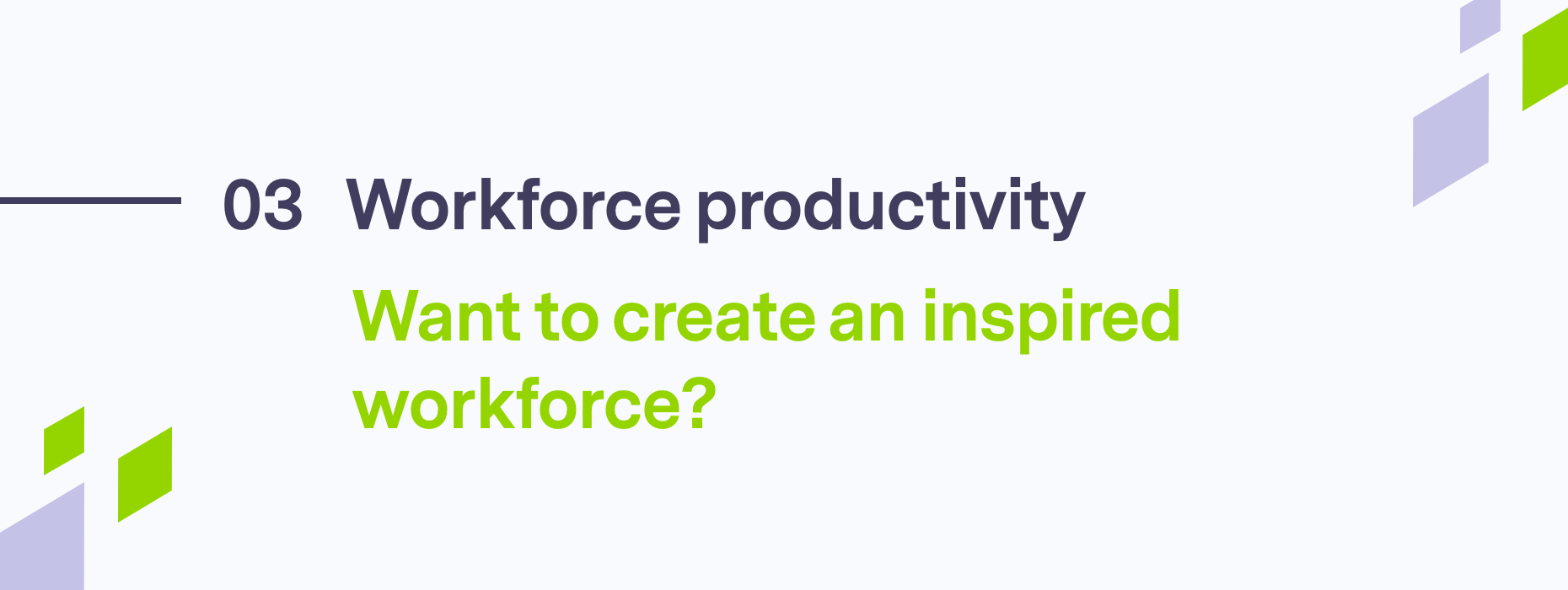Want to create an inspired workforce?