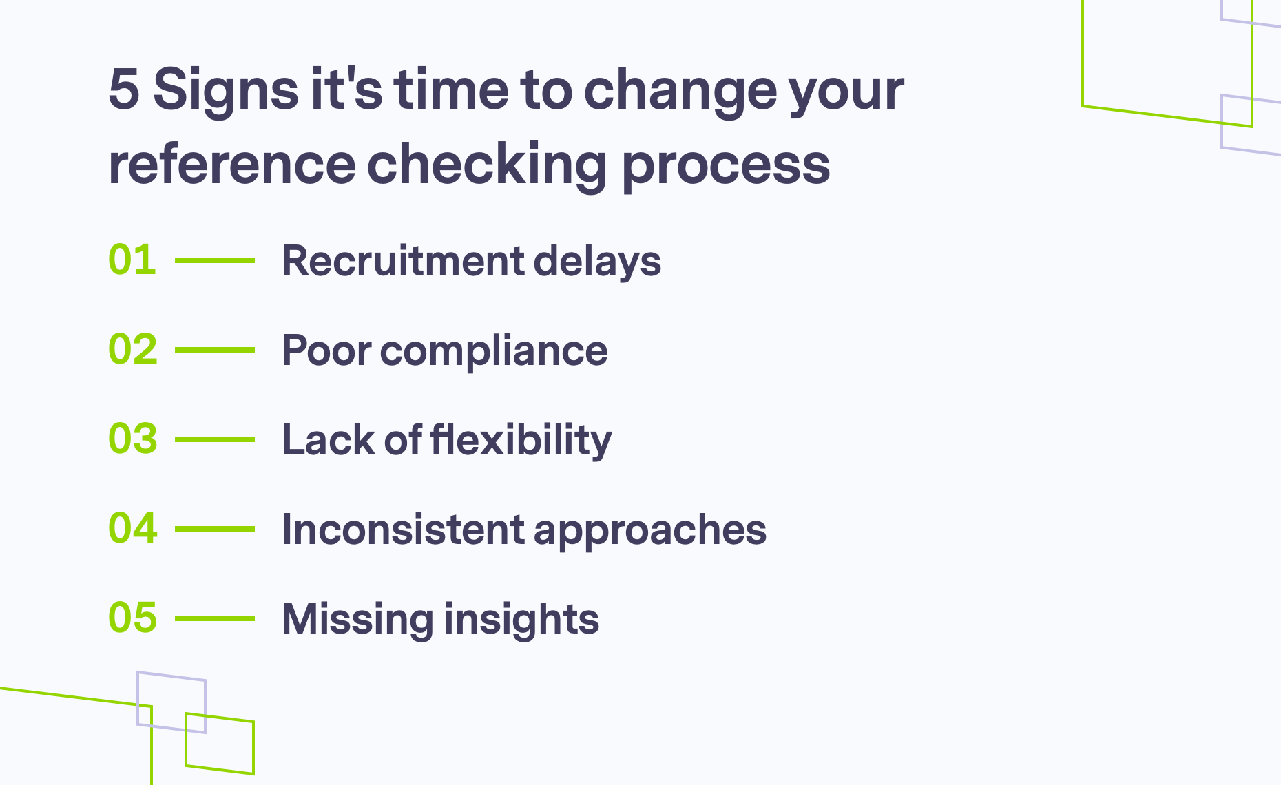 5 Signs it's time to change reference checking process