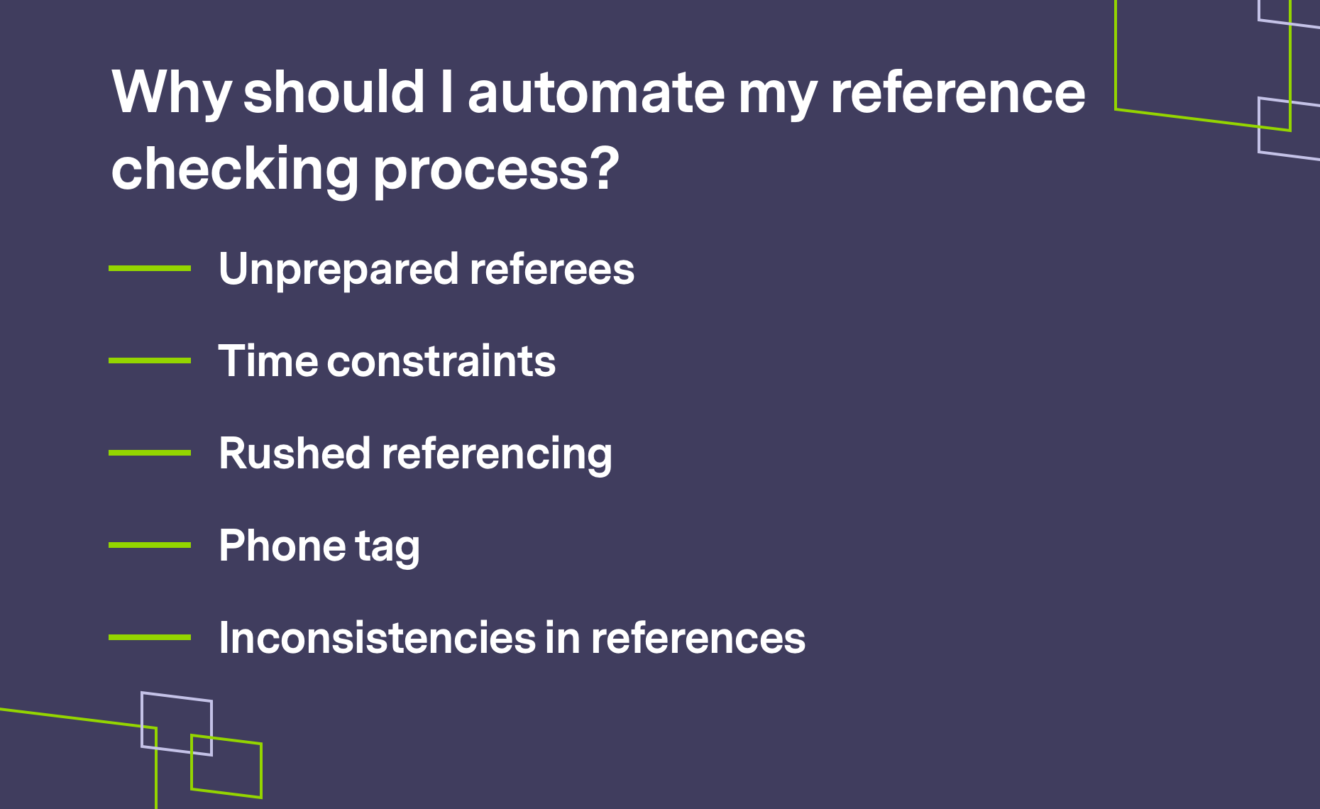 Why should you Automate reference checking process