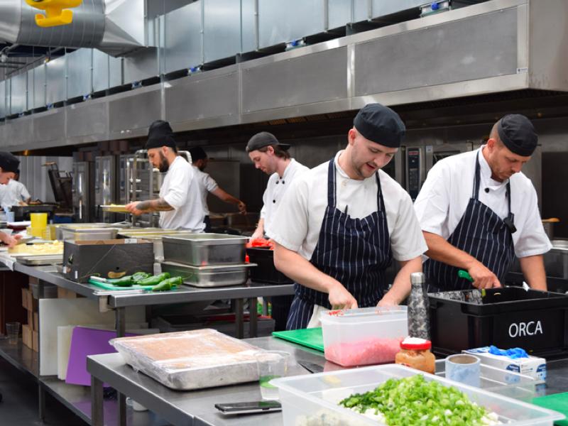 Sodexo header image, chefs in kitchen