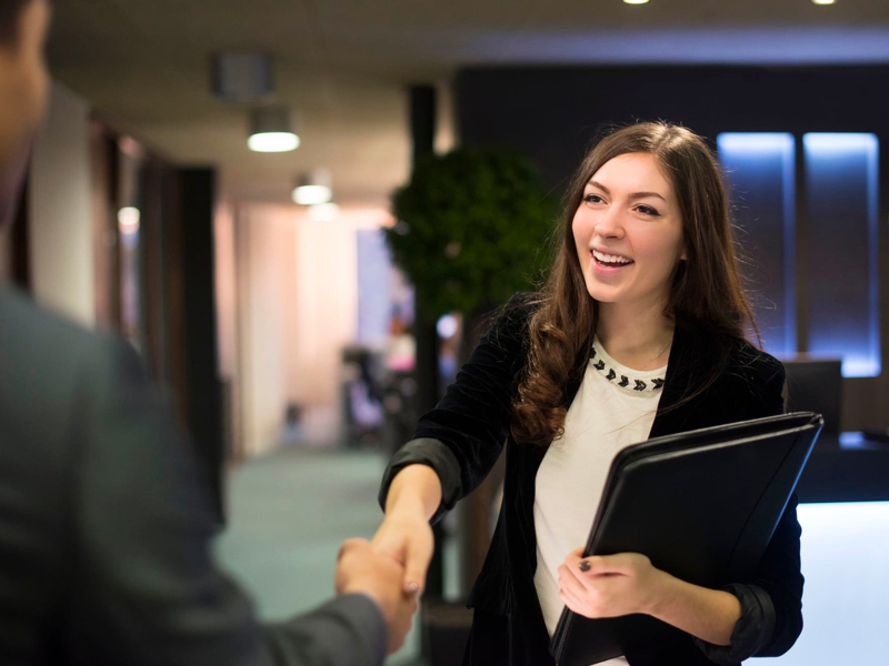 Lannick image case study header, woman smiling