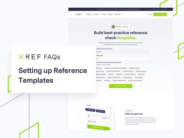 FAQs About the Xref Reference Checking Questionnaire