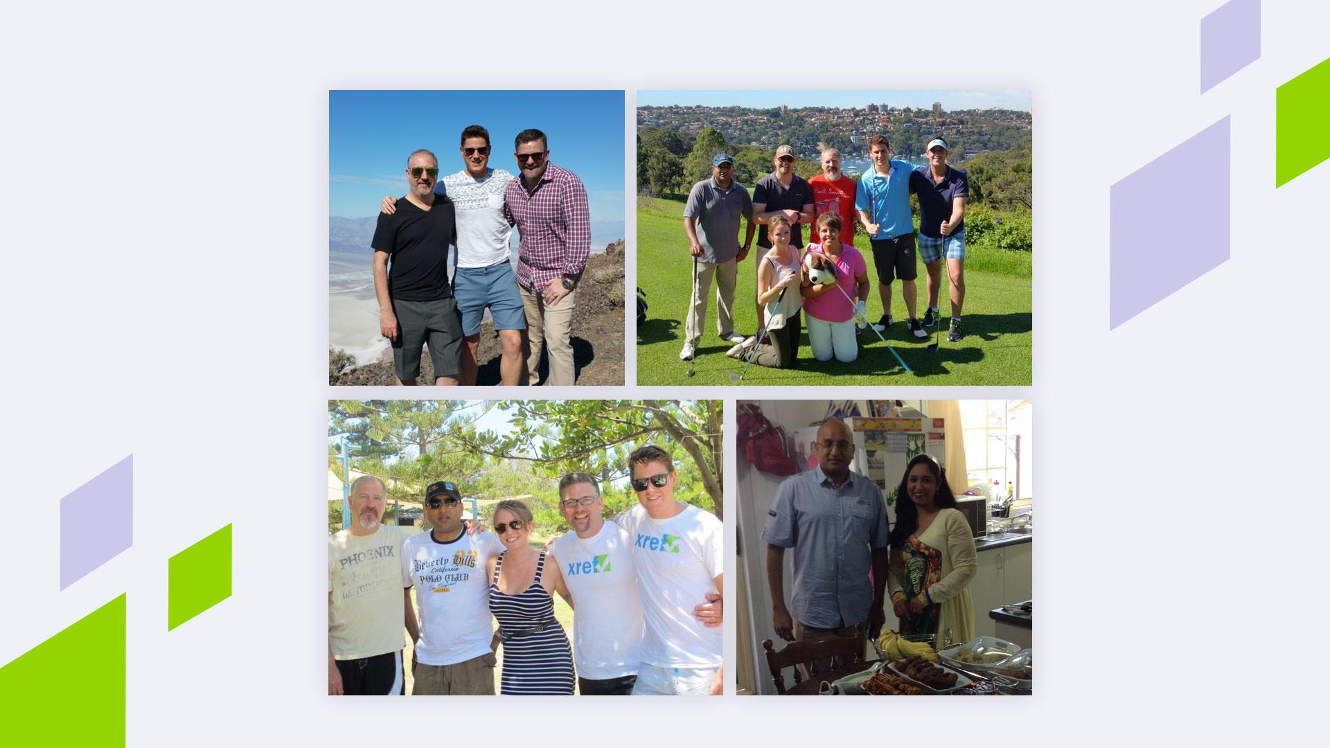 Original Staff, playing golf, family meals