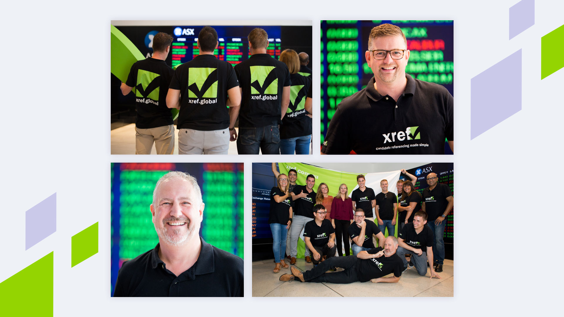 Photo of staff after Xref was ASX listed