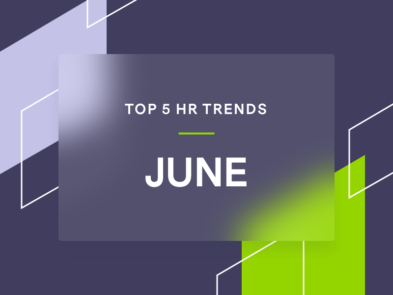 Image with branded shapes and HR trends text