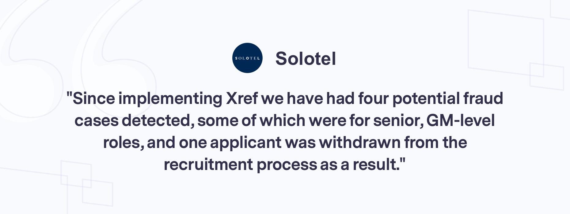Customer quote Solotel