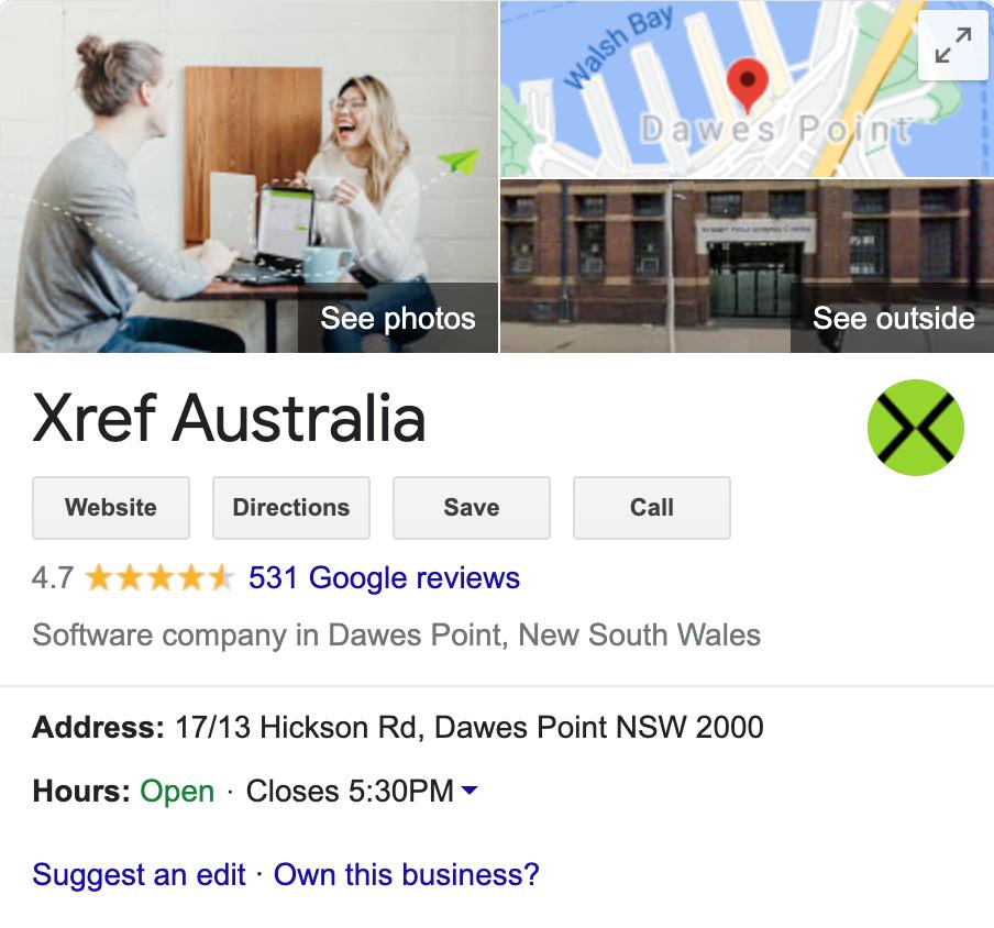 Xref Google Reviews