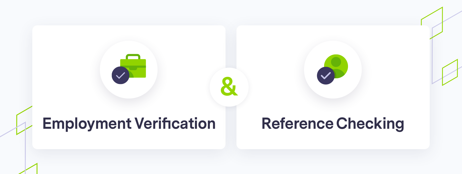 Image of verification and reference checking icons