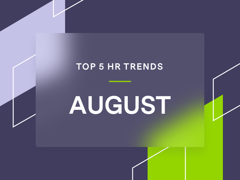 Branded shapes with Text on HR trends