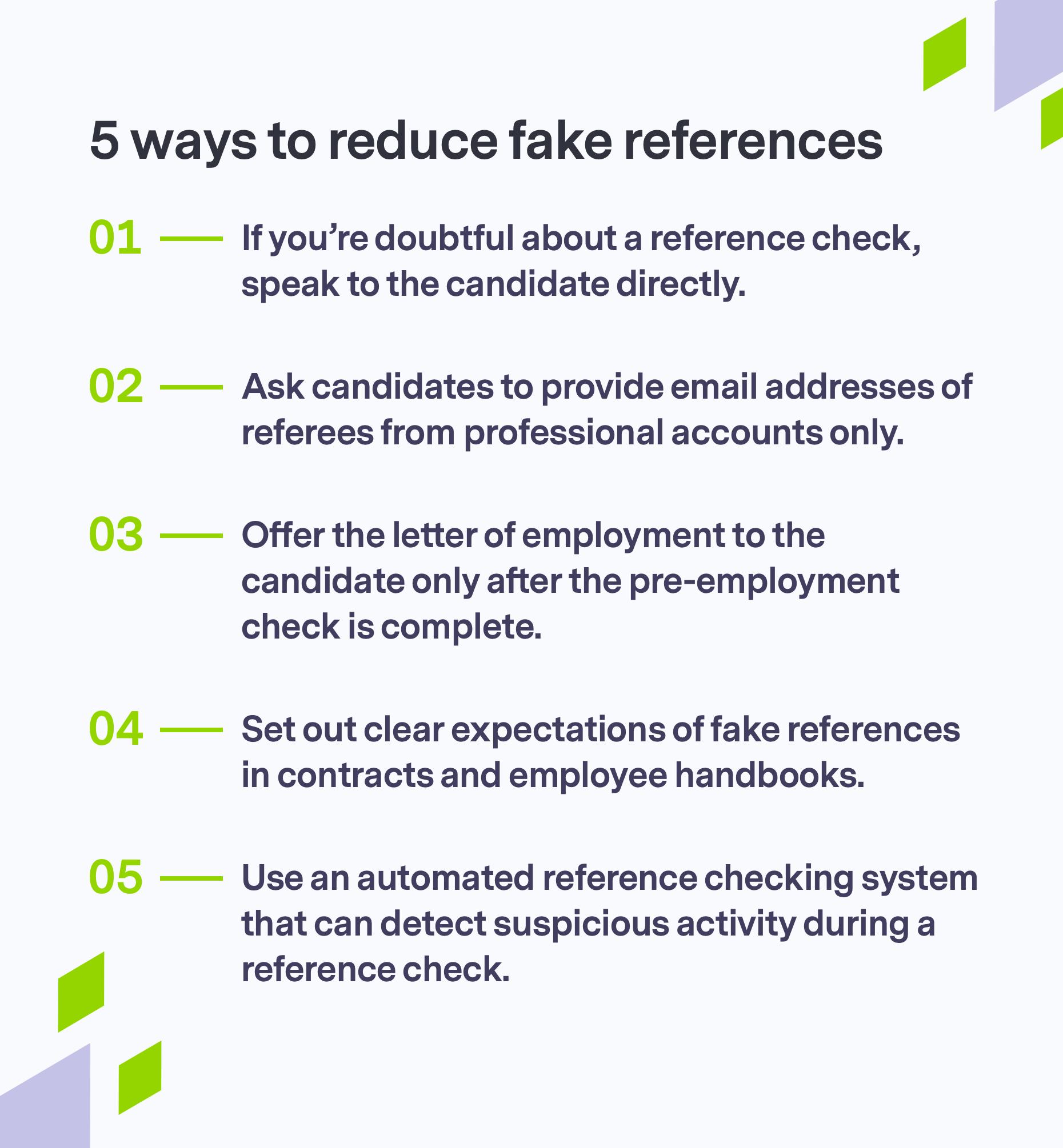 5 ways to reduce fake references