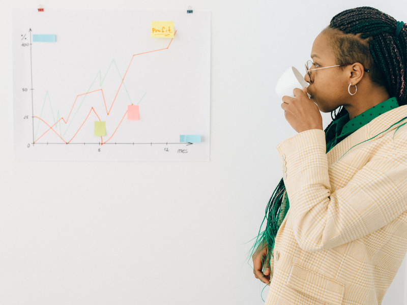 Woman looking at HR data