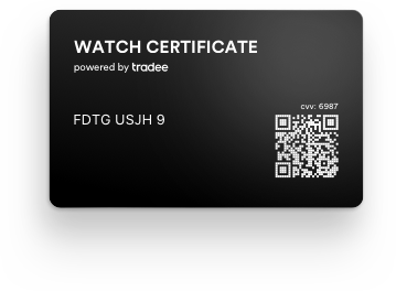 Watch Certificate™ Black