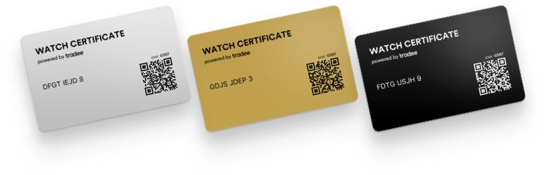 Les 3 Watch Certificate : Steel Gold et Black