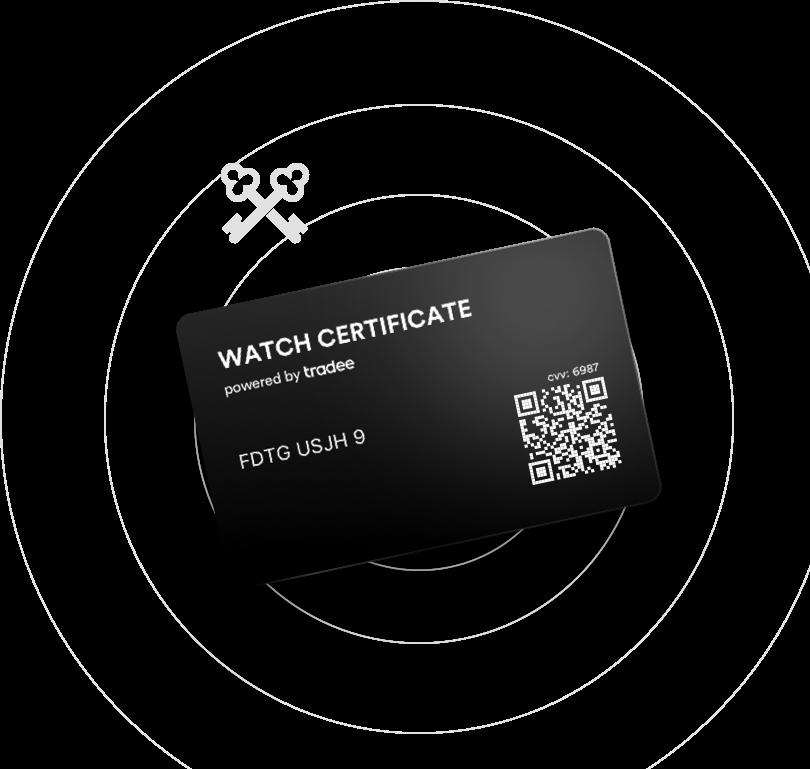 Icone d'un Watch Certificate Black.