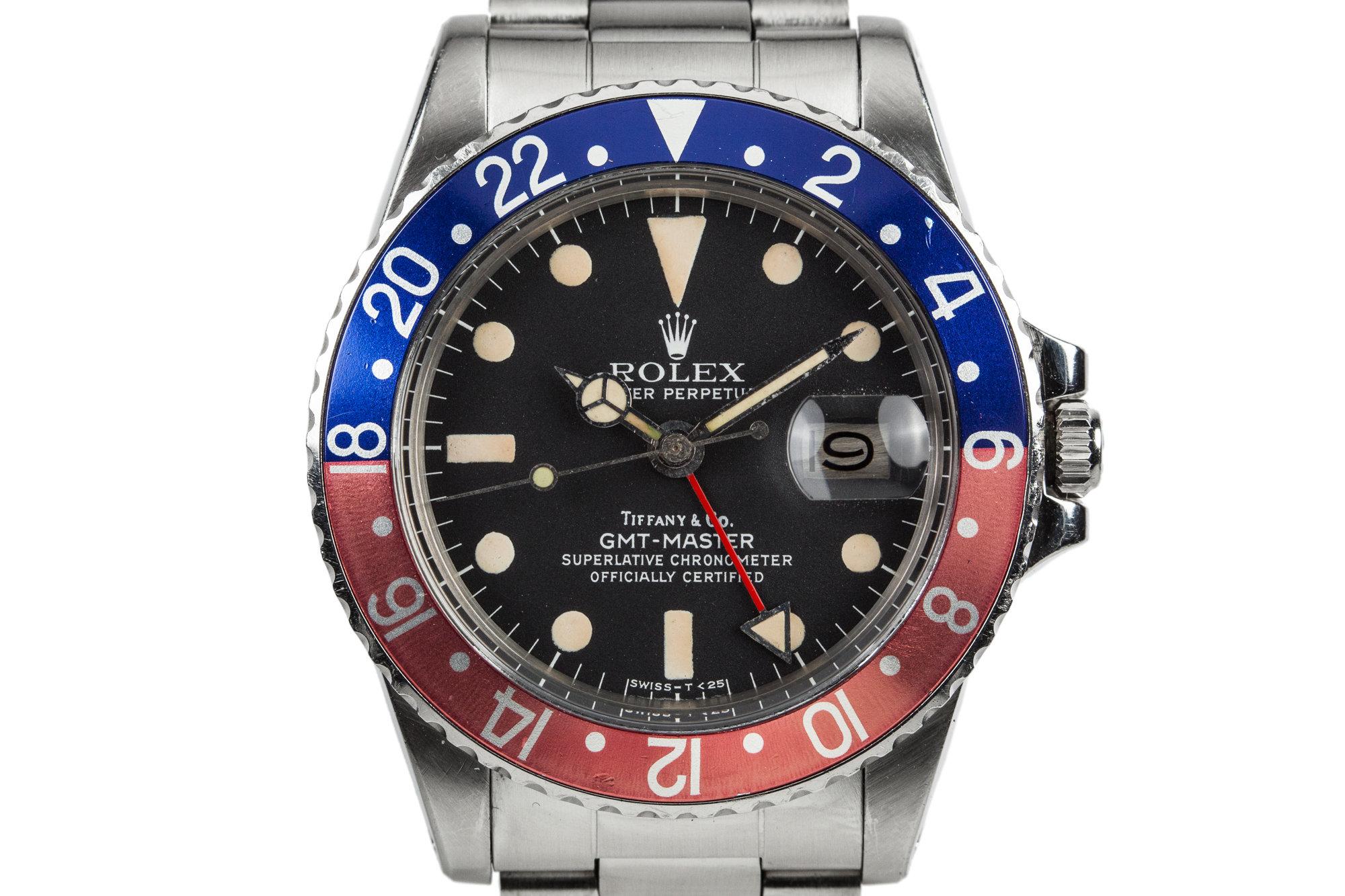 Rolex GMT-Master 1675 Tiffany&Co