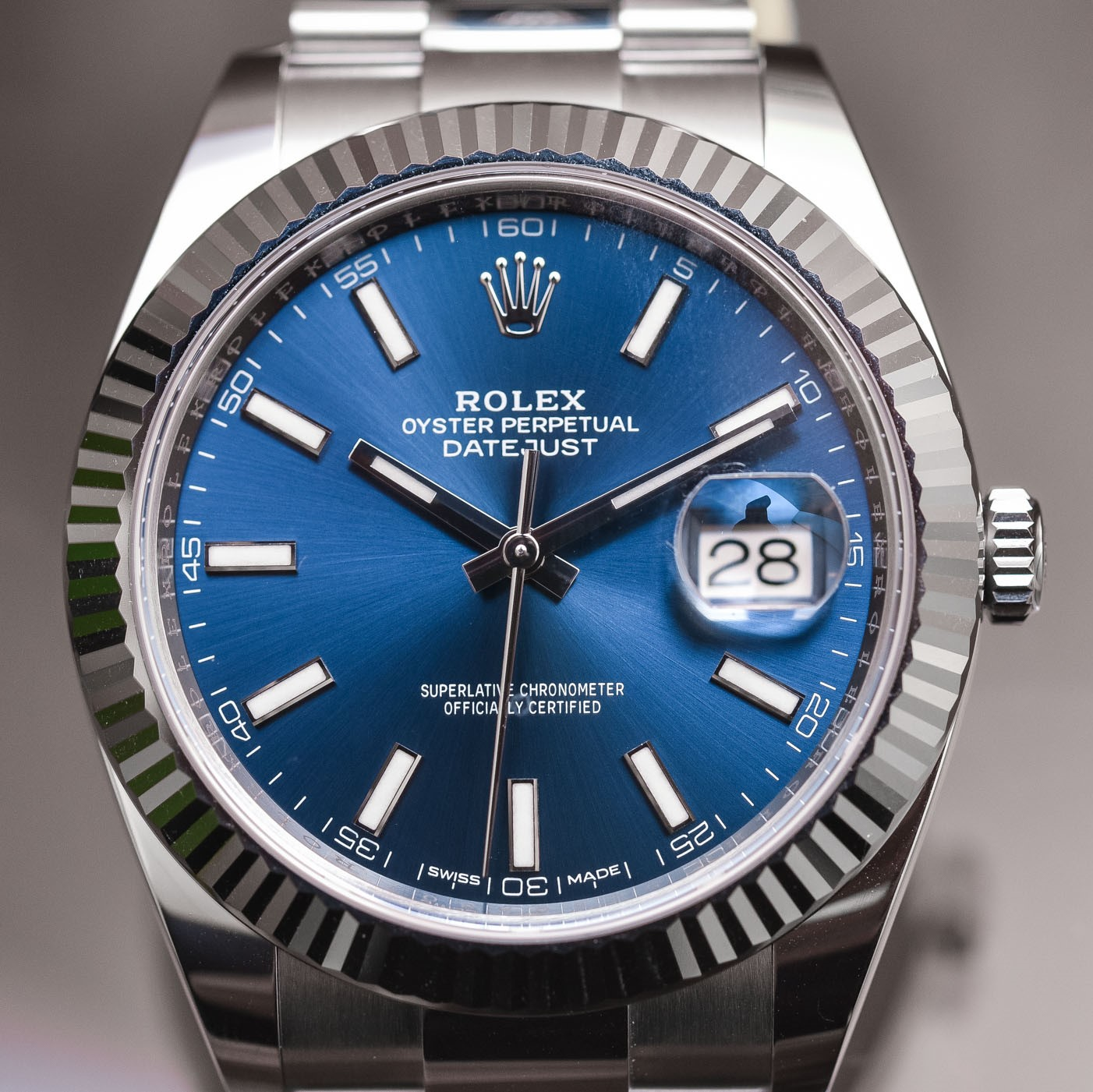 Photo d'une vraie Rolex Oyster Perpetual Datejust