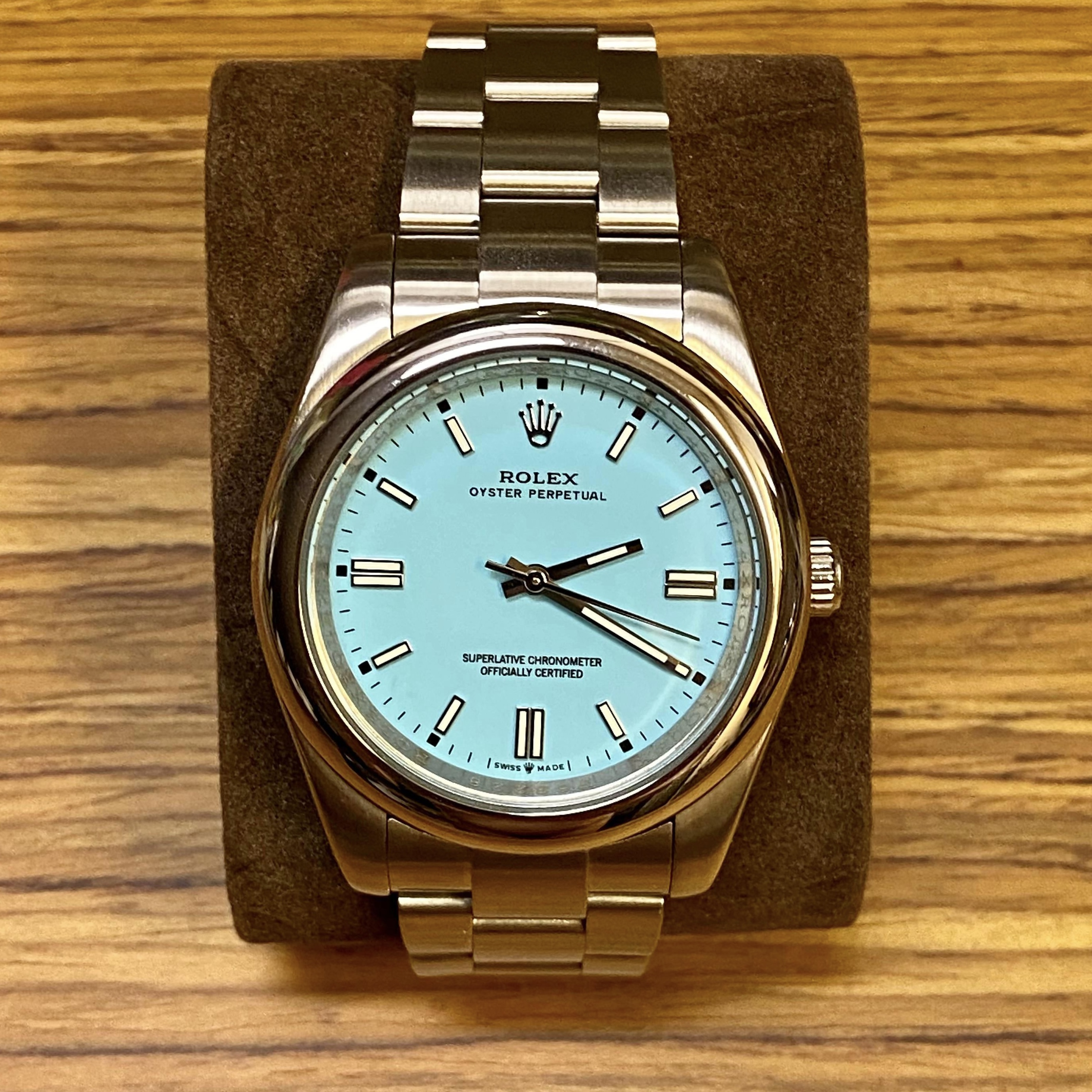 Photo d'une fausse Rolex Oyster Perpetual