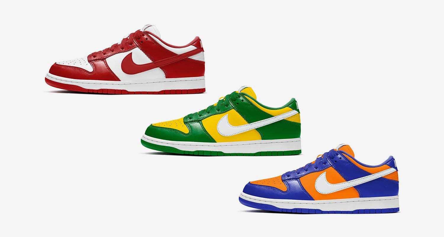 "Nike Dunk Low ""Champs Colors"""