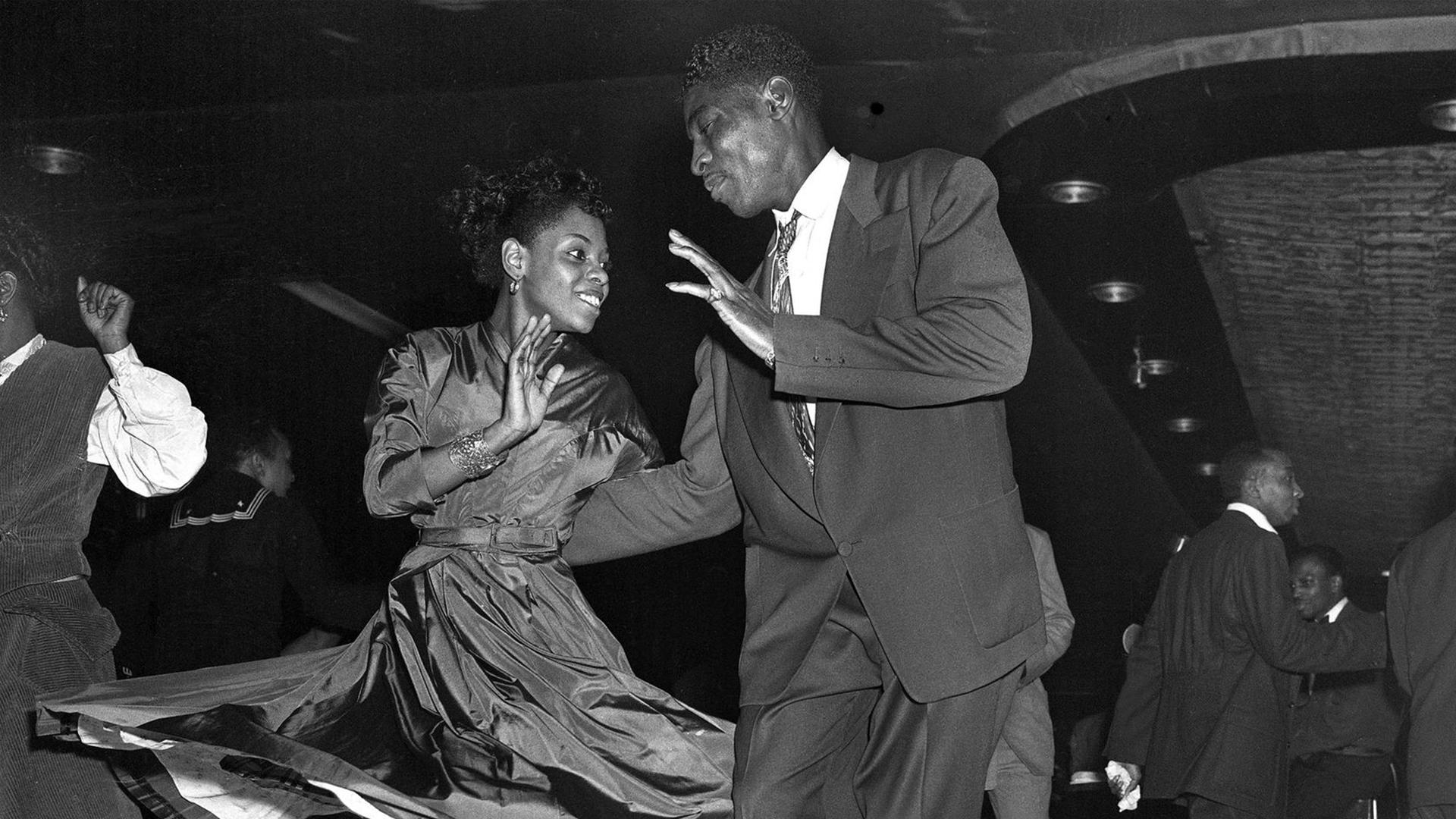 Black couple doing partnered dance