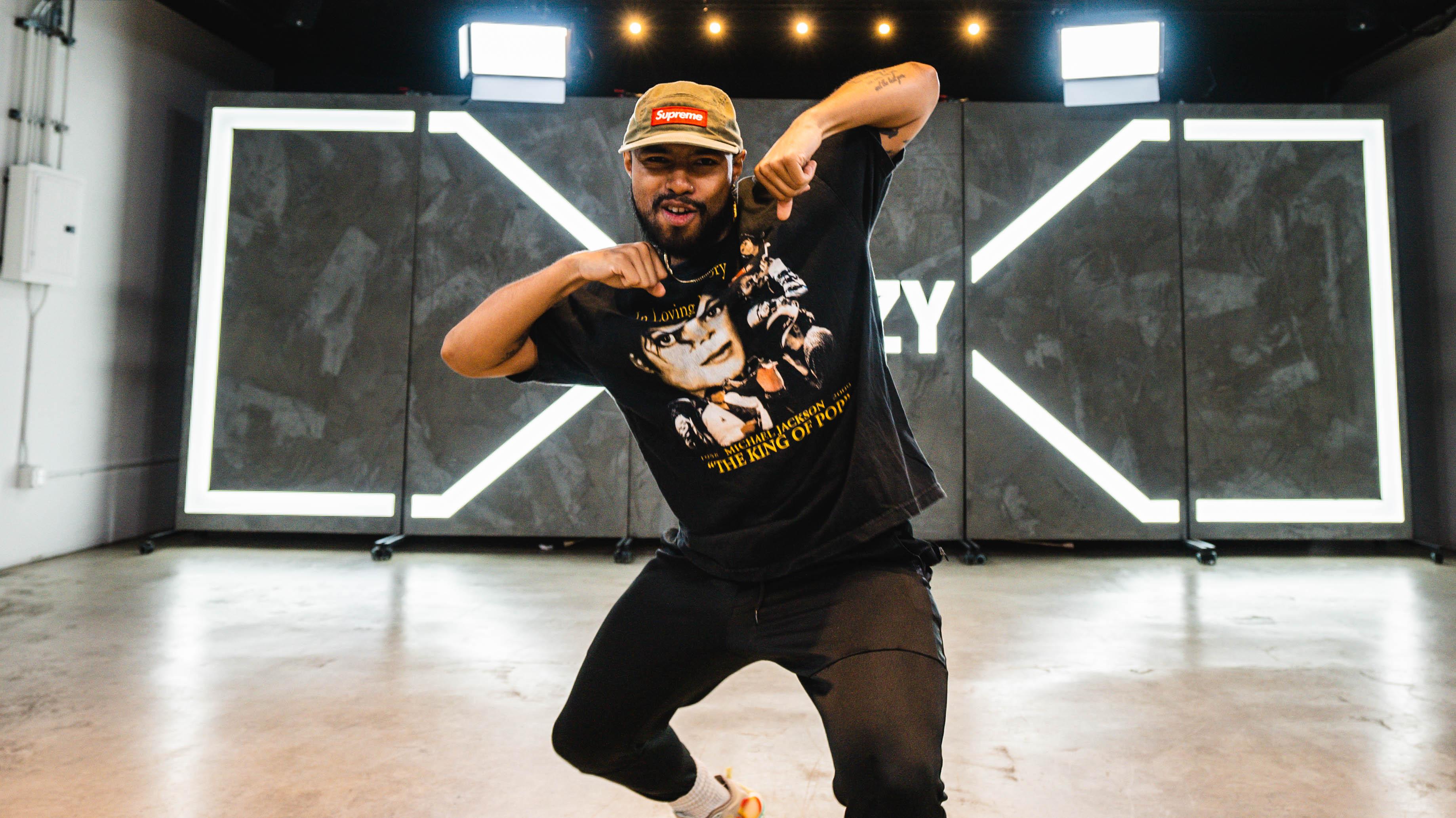 brandon beastboi doing the jerk dance move