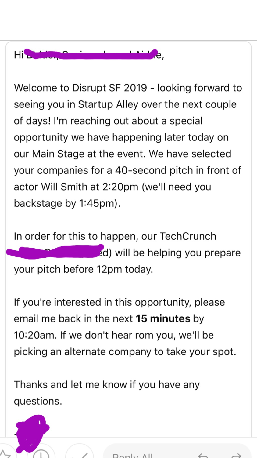 Will Smith Email, Techcrunch