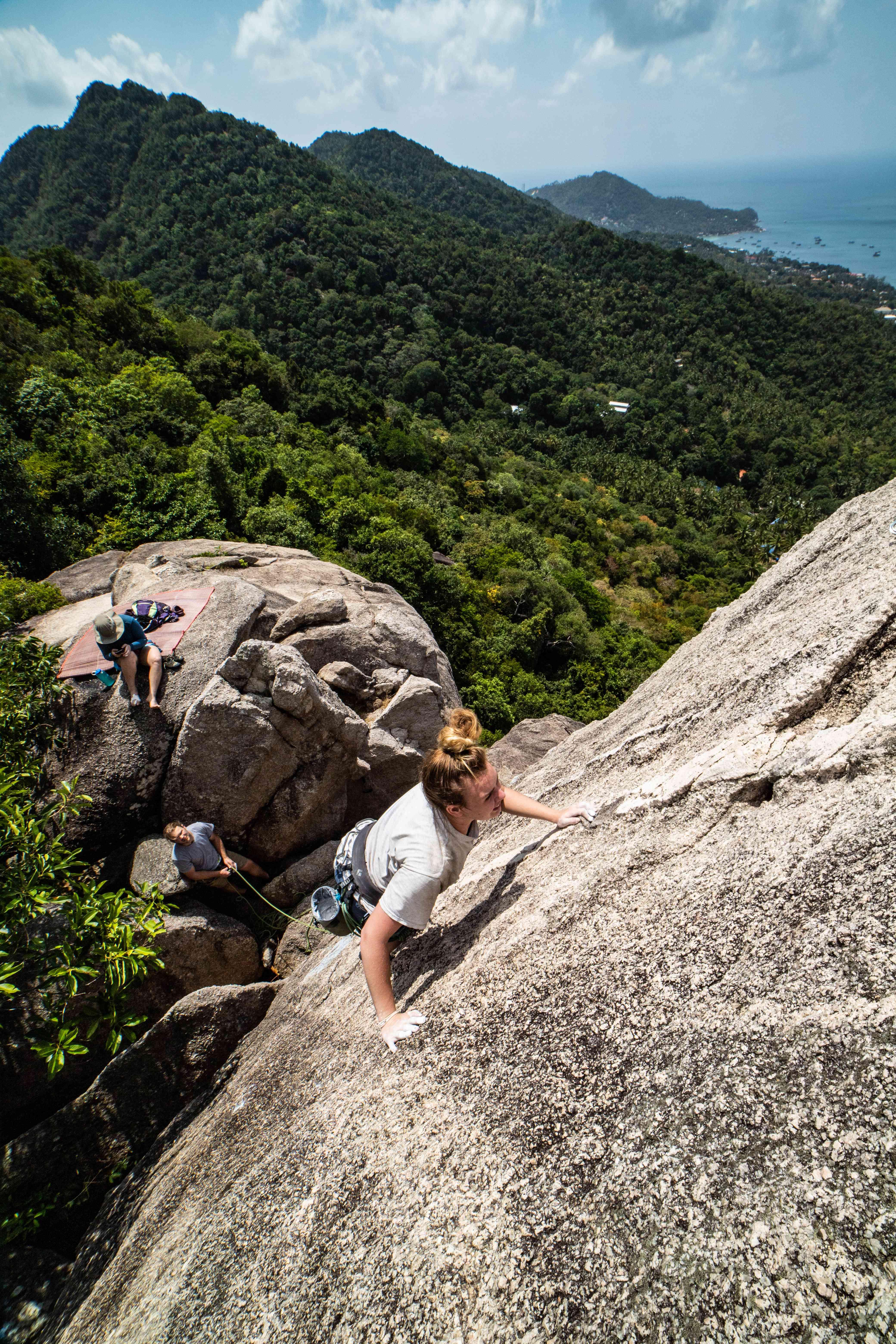 Rock climbing in Thailand