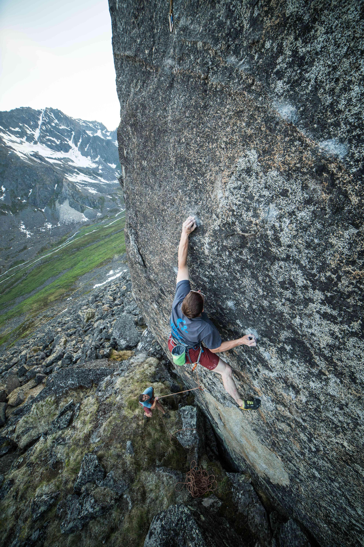 Trad climbing in Hatcher Pass, Alaska