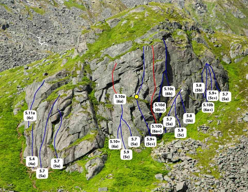 Monolith Hatcher Pass topo