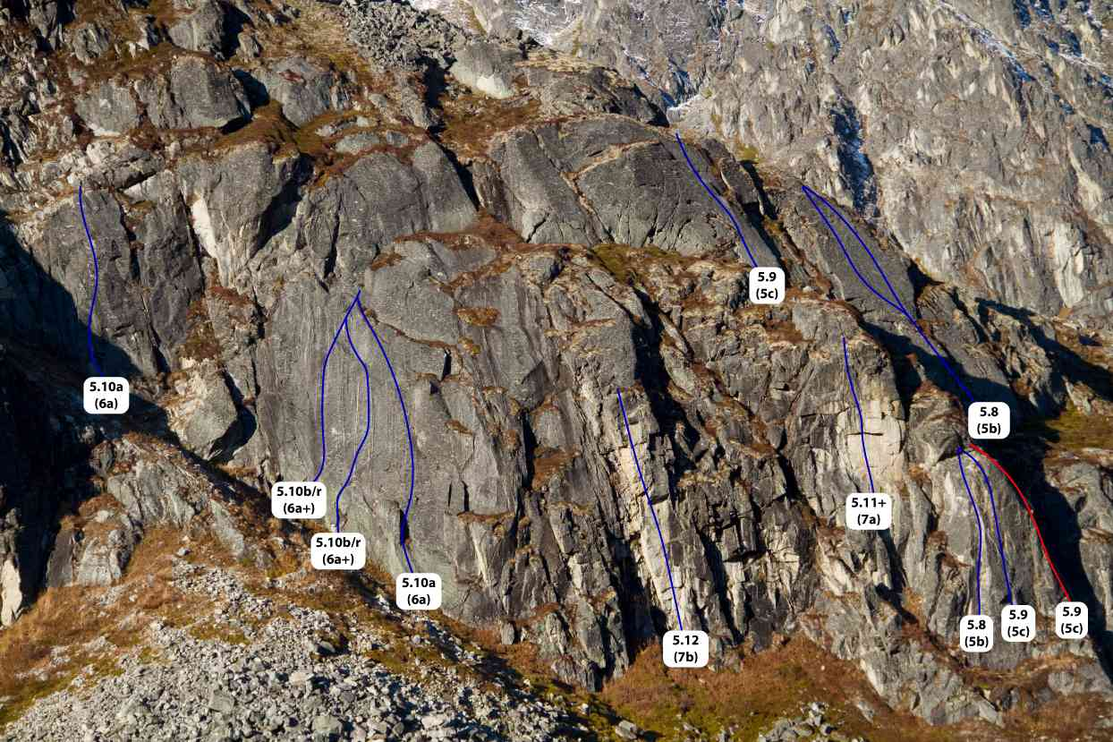Zulu Wall Hatcher Pass topo