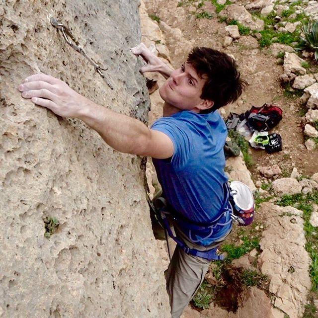 Tim Bruns arrampicata