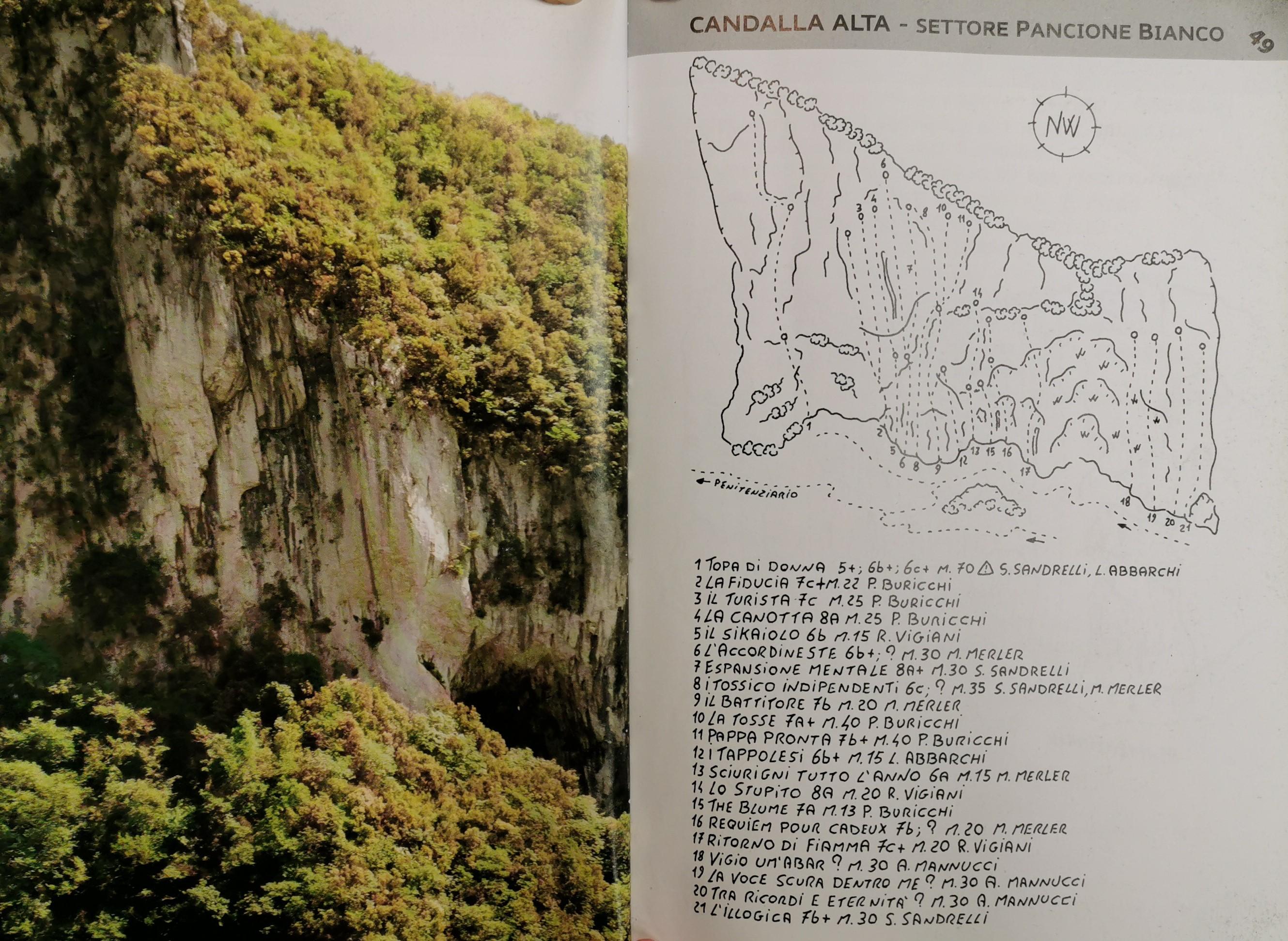 Arrampicata su roccia Camaiore Italia Candalla topos