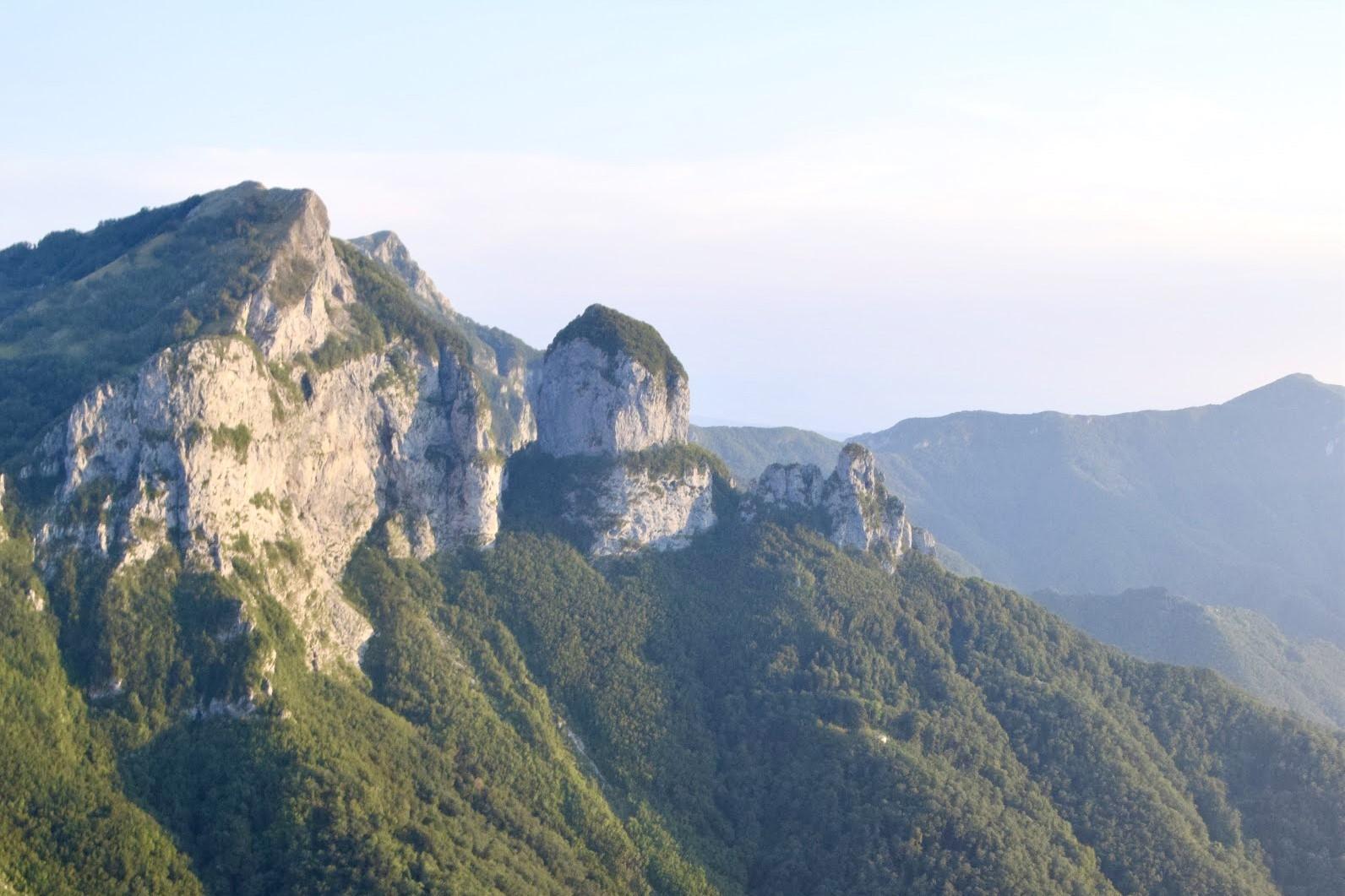 Un'immagine ingrandita della via ferrata del Monte Forato