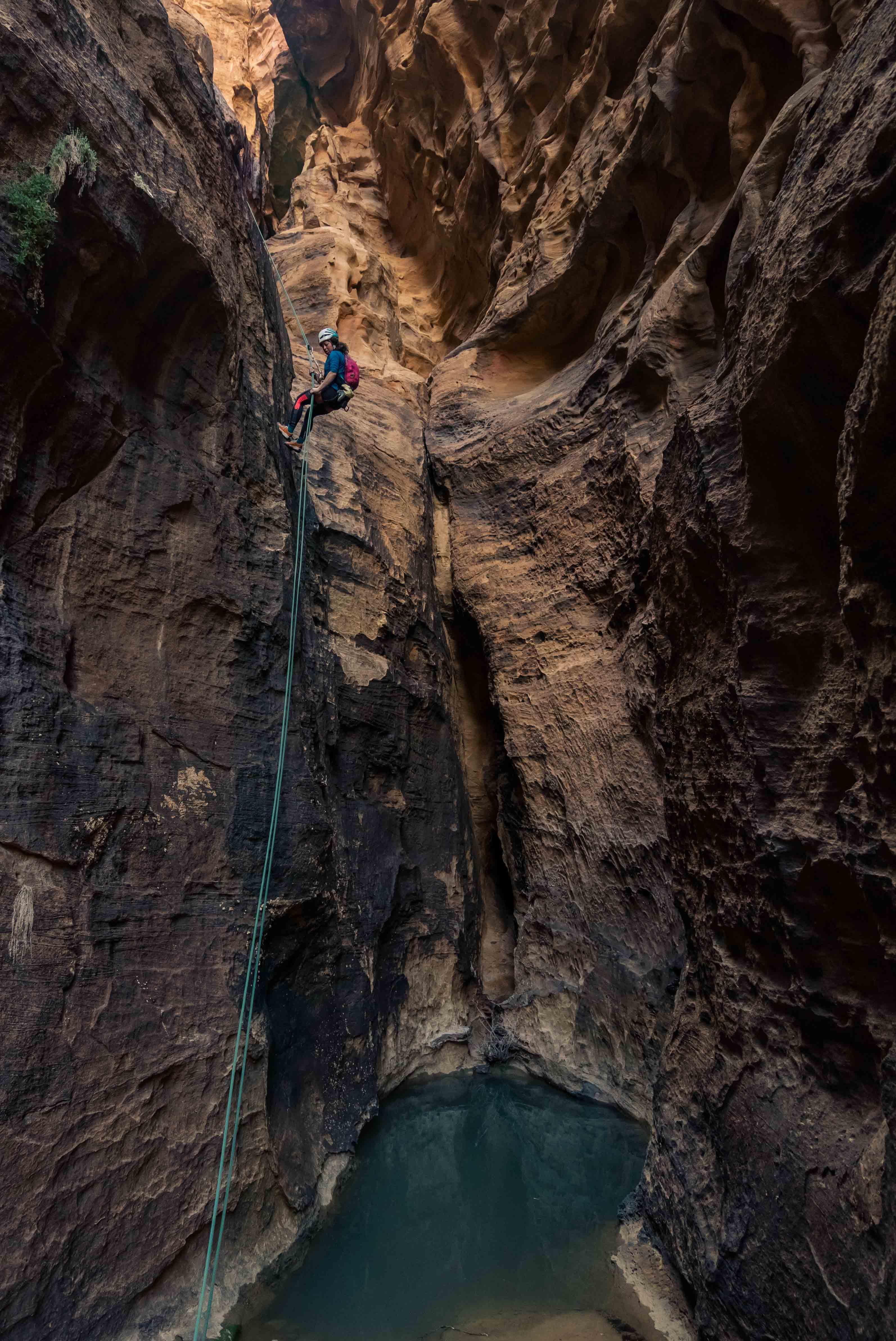 Arrampicata su roccia in Giordania