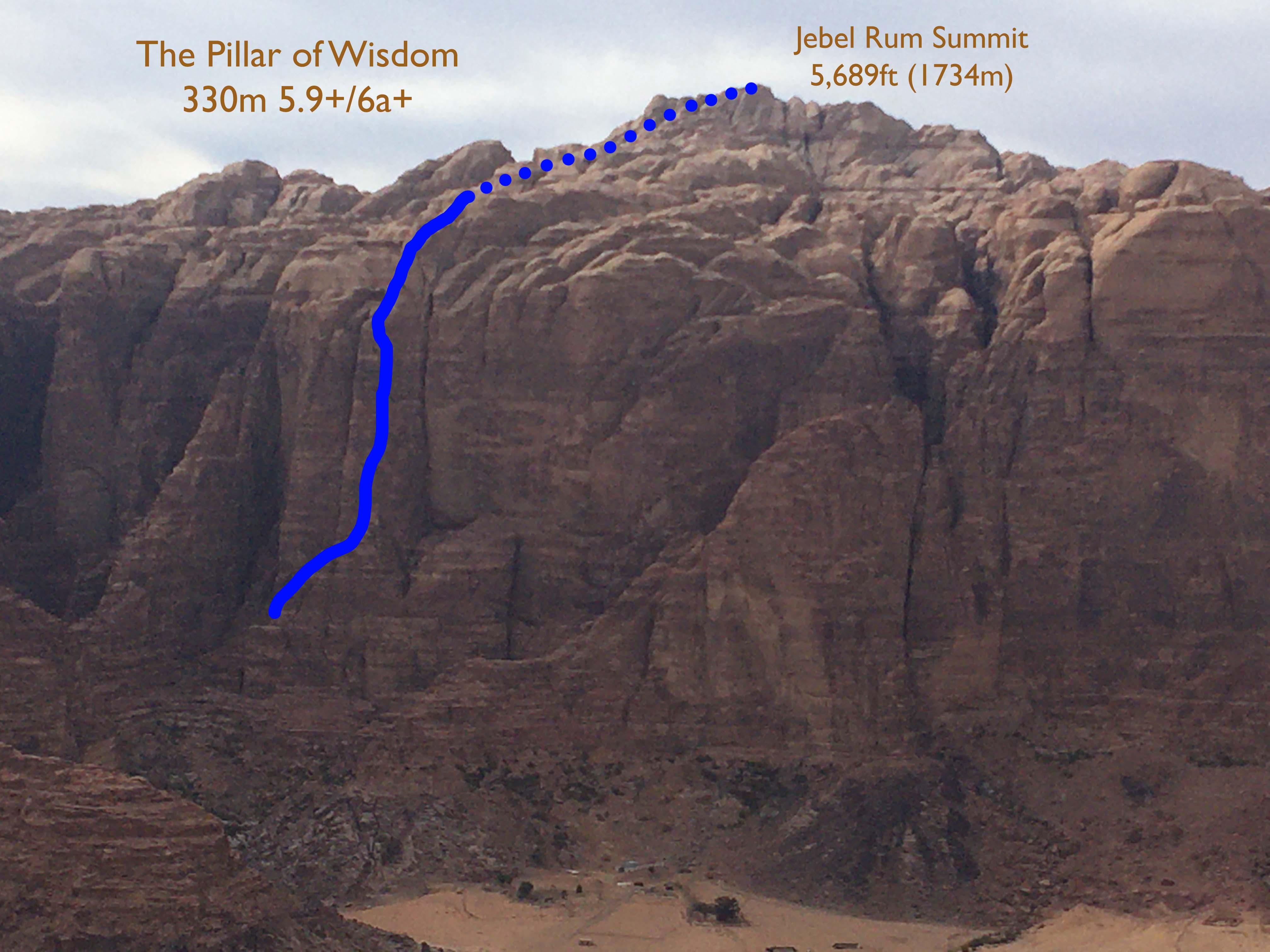 Il pilastro della saggezza topo, Giordania