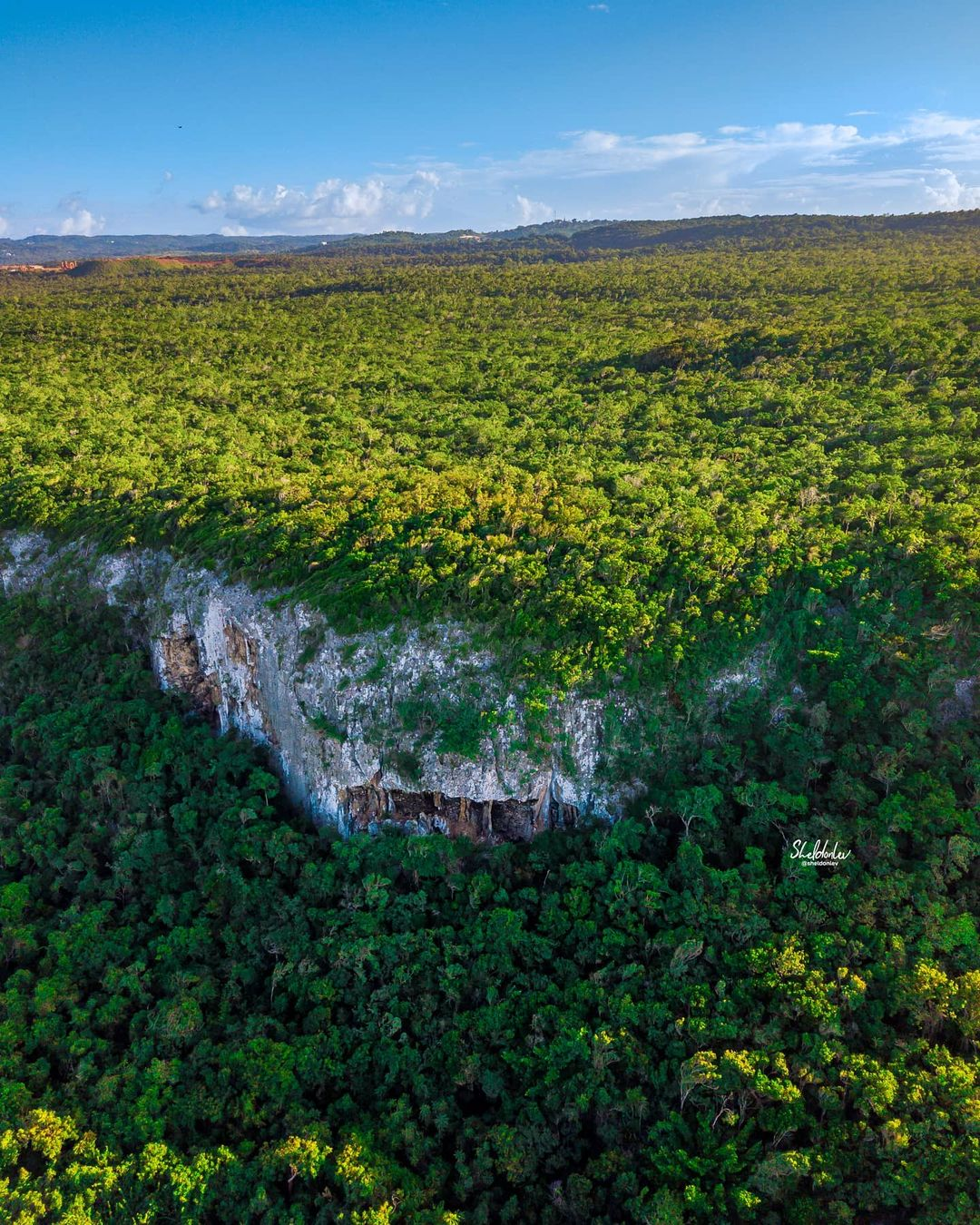 Aerial photo at the cliffs near discovery bay, Jamaica